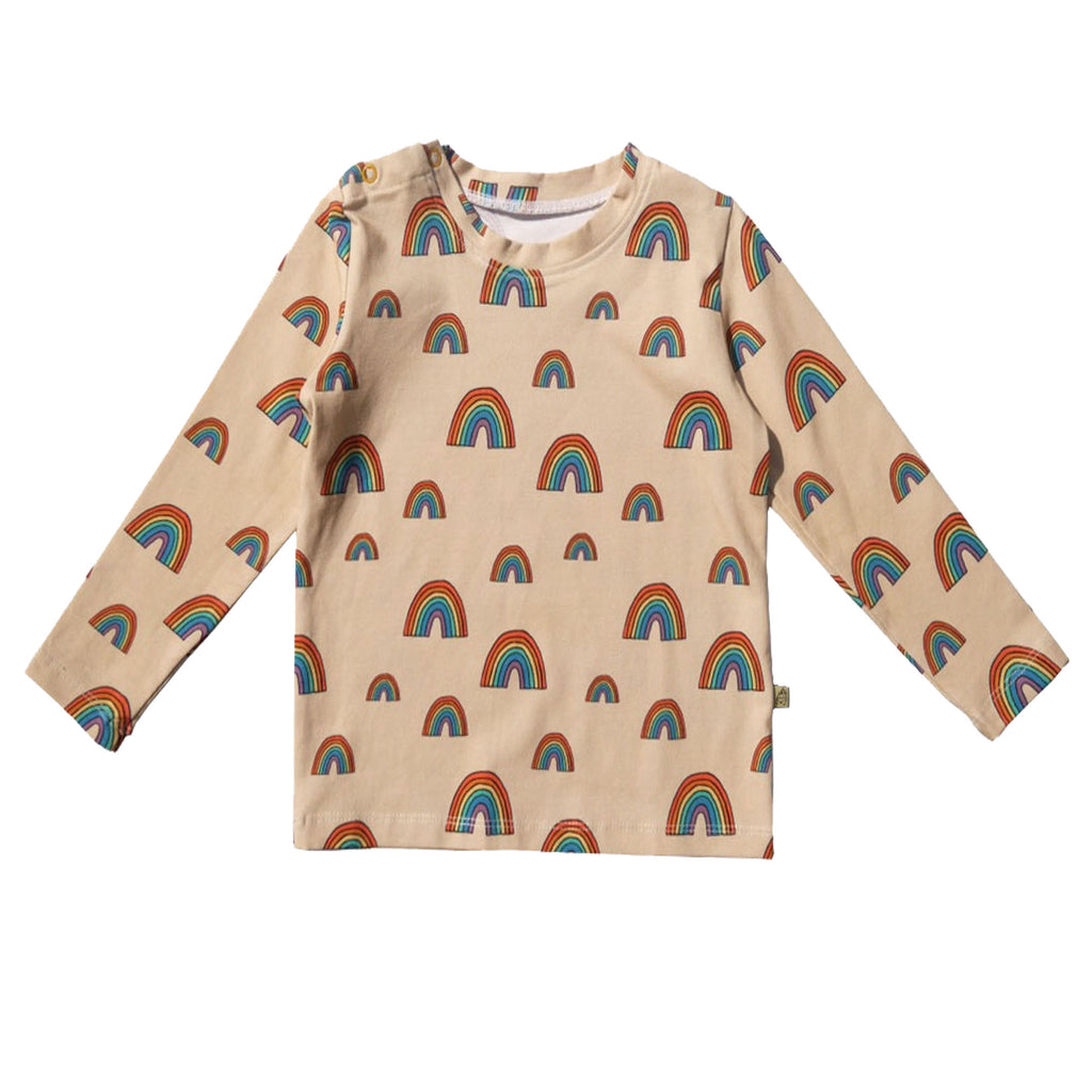 Long Sleeved Rainbow T-shirt by Lillan Gorillan