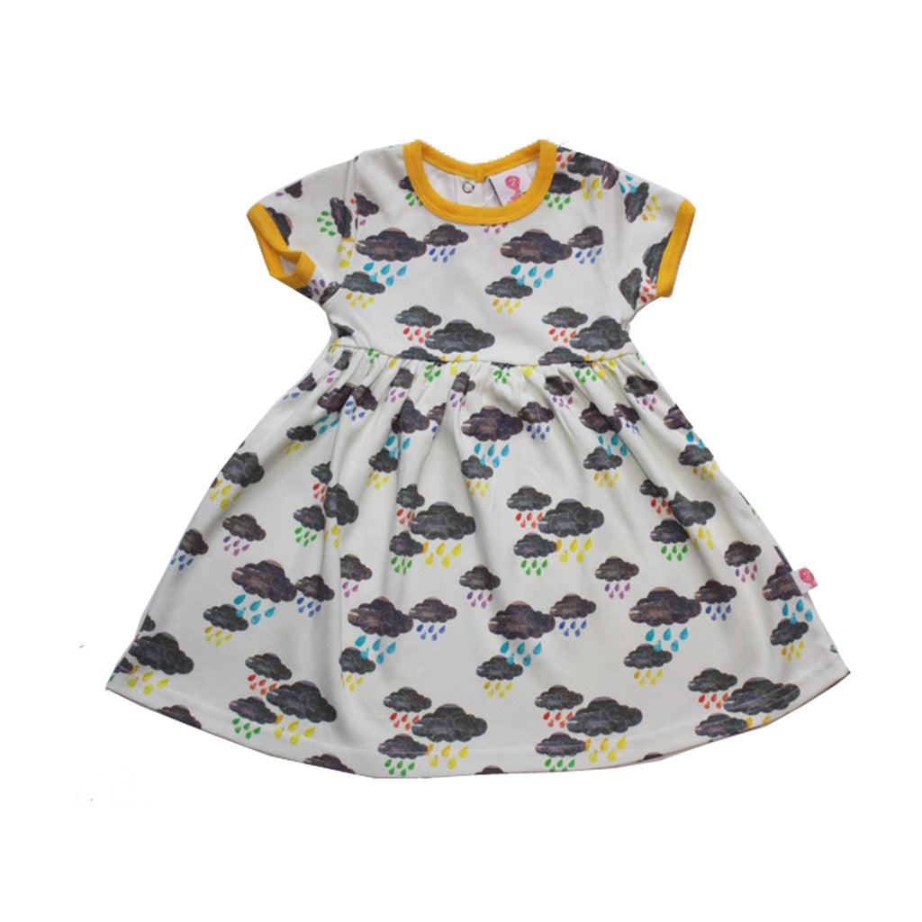 Rainbow Rainclouds Dress by The Bunting Tree