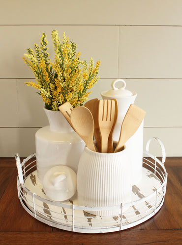 White Kitchen Utensil Tray