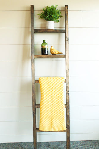 Decorative Brown Wall Ladder Set