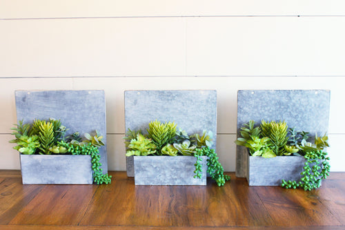 Industrial Succulent Wall Art