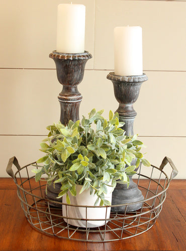 Rustic Wire Basket Set