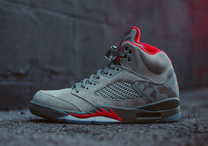 THE AIR JORDAN 5 TAKES FLIGHT IN NEW CAMO-PRINT RELEASE - Cape Kickz