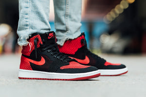 "A Detailed Look at the Air Jordan 1 Flyknit ""Bred"" - Cape Kickz"