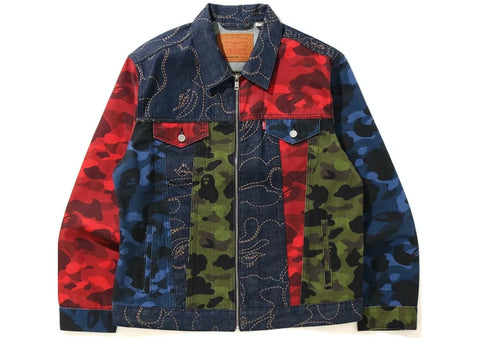 BAPE x Levi's Camo Trucker Jacket Multicolor