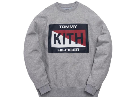 Kith x Tommy Hilfiger Slash Logo Crewneck Grey