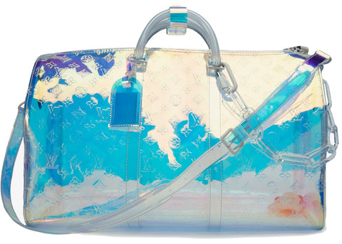 Louis Vuitton Prism Keepall Monogram Bandouliere 50 Iridescent