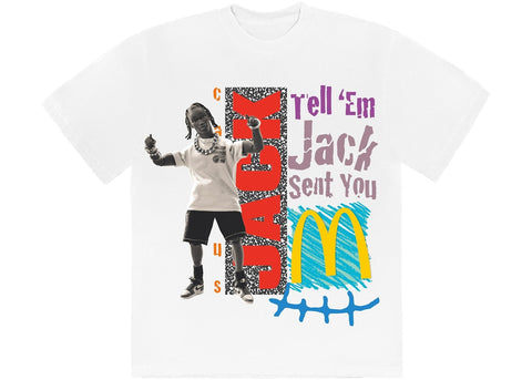 Travis Scott x McDonald's Jack Smile T-Shirt White
