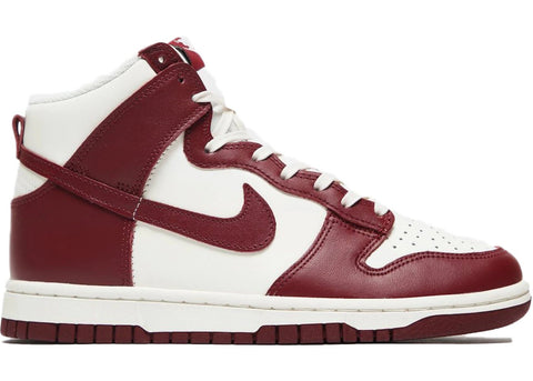 Nike Dunk High Sail Team Red