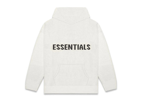 FEAR OF GOD ESSENTIALS Knit Hoodie-Heather Grey