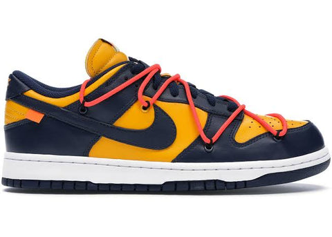 Nike Dunk Low Off- White University Gold Midnight Navy