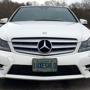 Smoked License Plate Cover