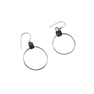 Black Linx Medium Hoop Earrings