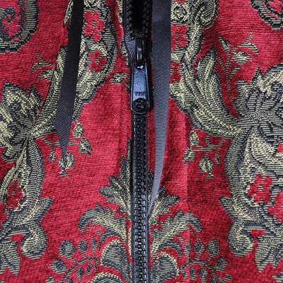 Garment Bag - Beautiful Tapestry Chenille Red & Gold (Close Up) Perfect for a Bride's Gift!