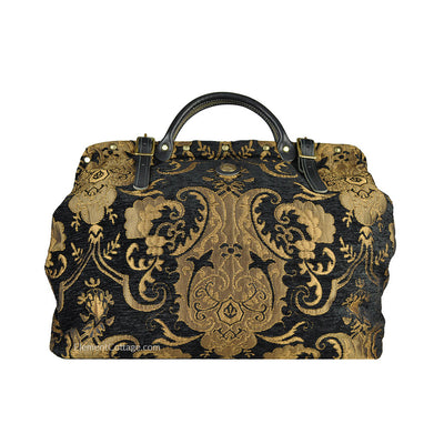 Large Victorian Traveler Carpetbag - Black Knight