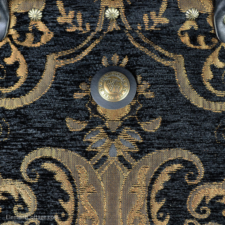 Large Victorian Traveler Carpet Bag - Black Knight