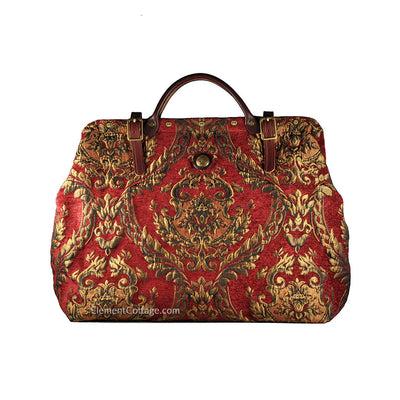 Large Victorian Traveler Carpetbag - Queen Elizabeth