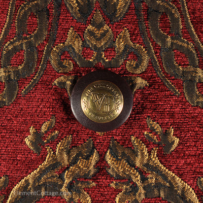 Large Victorian Traveler Carpetbag - Queen Elizabeth (Close up)