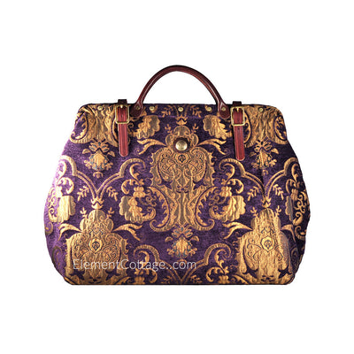 Large Victorian Traveler Carpetbag - Bella Donna