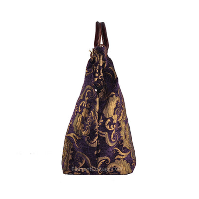 Large Victorian Traveler Carpetbag - Bella Donna (Side View)
