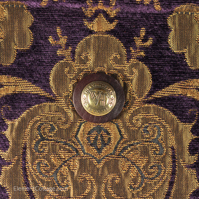 Large Victorian Traveler Carpetbag - Bella Donna (Close up)