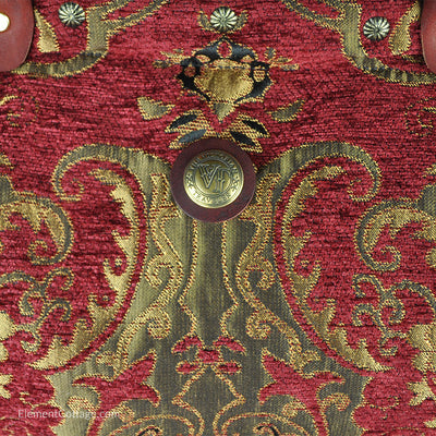 Large Victorian Traveler Carpetbag - Queen Anne (Close up)