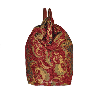 Large Victorian Traveler Carpetbag - Queen Anne (Side View)