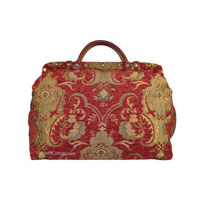 Large Victorian Traveler Carpetbag - Queen Anne (Back View)