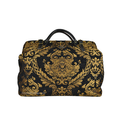 Large Victorian Traveler Carpetbag - Black Queen Elizabeth