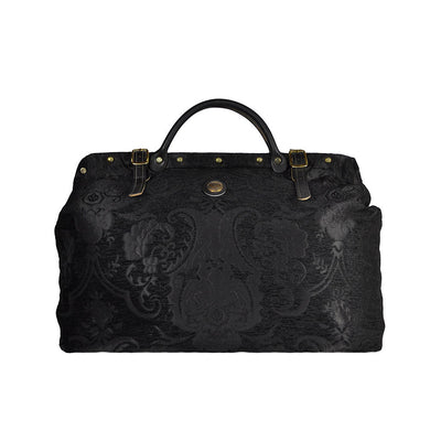 Large Black Victorian Traveler Carpet Bag - Bonnie Prince