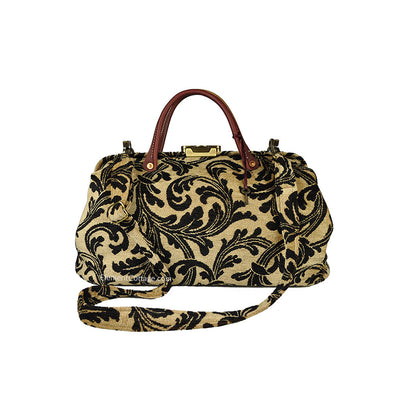 Doctor's Bag - Gold  with Black Leaves