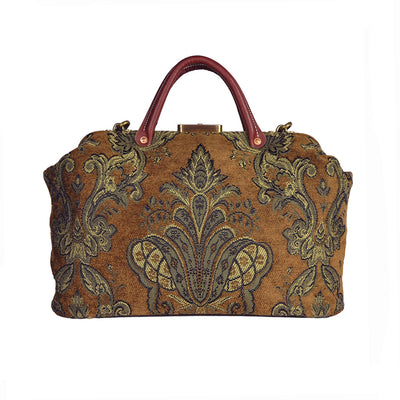 Golden Brown & Olive Briefcase Carpet Bag