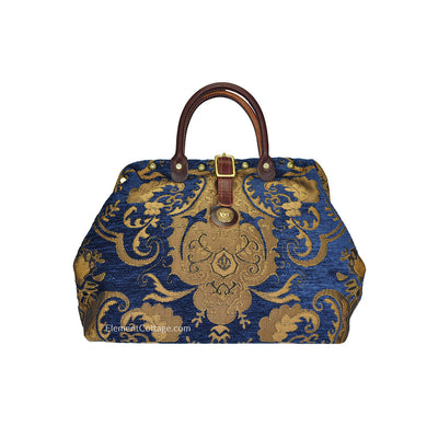 Small Victorian Traveler Handbag - Blue Danube