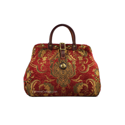 Small Victorian Traveler Handbag - Queen Anne