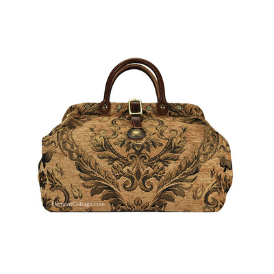Small Victorian Traveler Handbag - Dark Gold