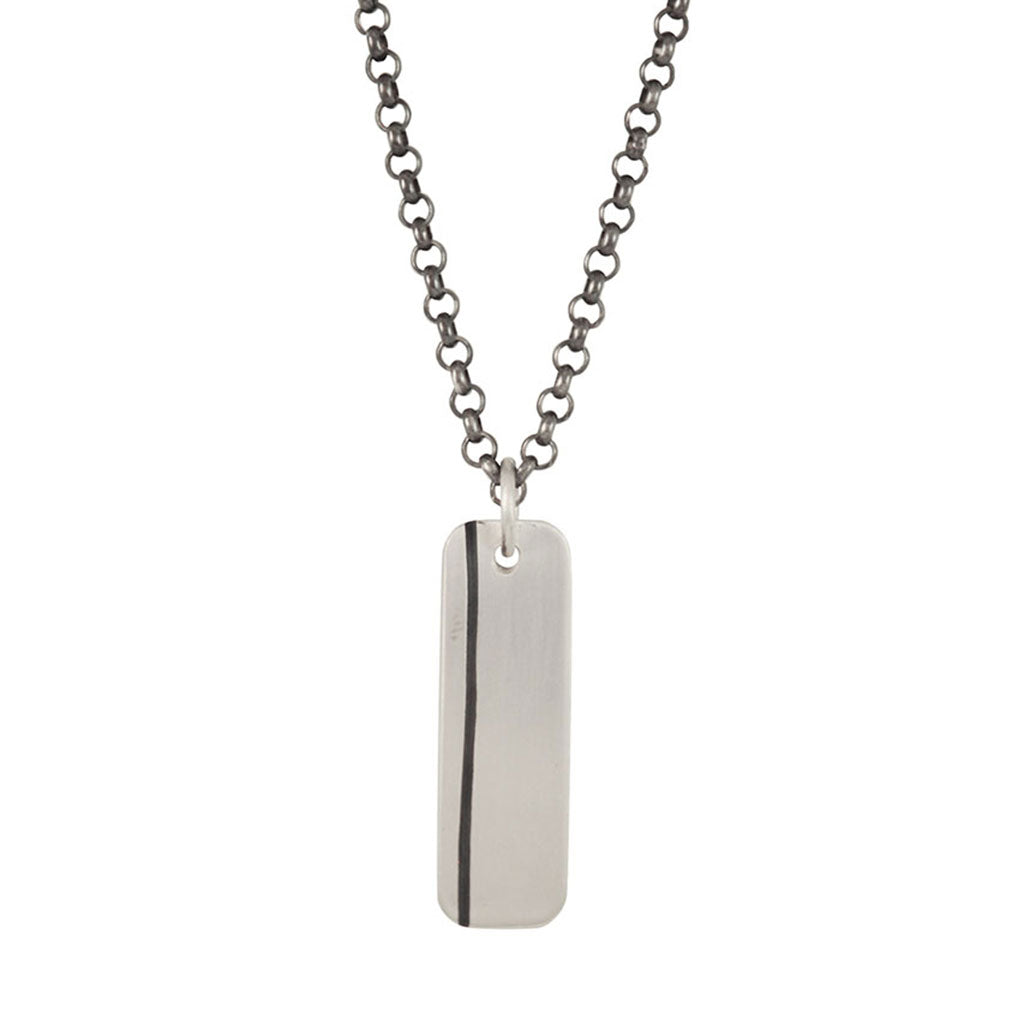 Men's Lineage Single Line Necklace (Front View)