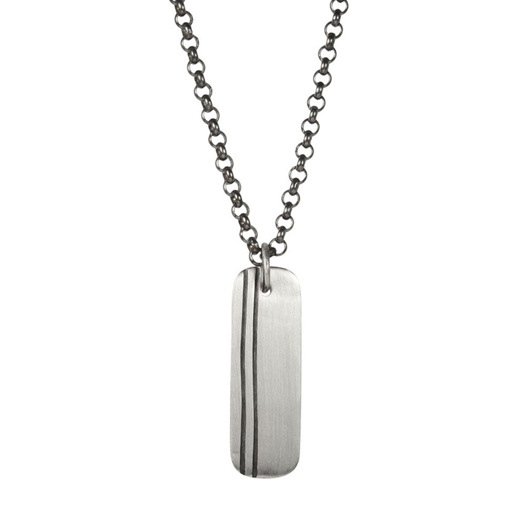 Men's Lineage Double Line Necklace (Front View)