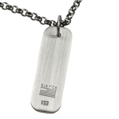 Men's Lineage Double Line Necklace (Back View)