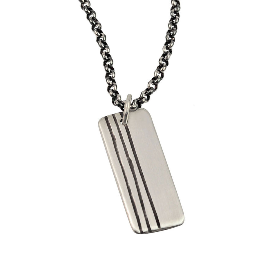 Lineage Men's Triple Line Necklace