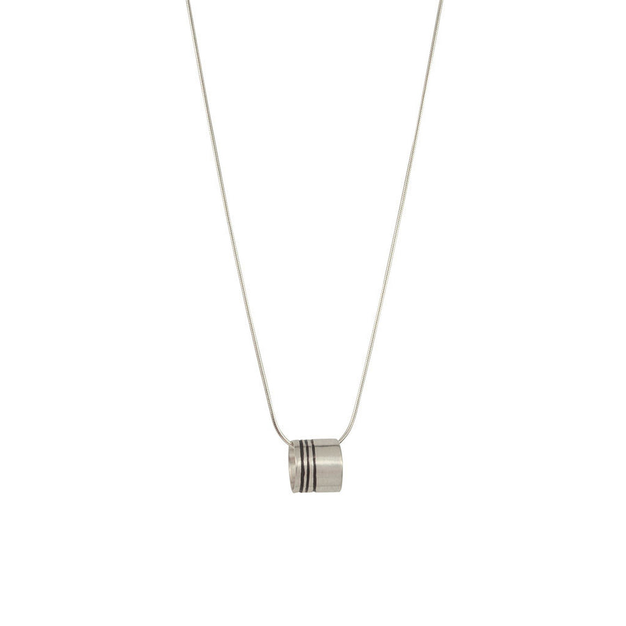 Lineage Triple Line Mini Ring Necklace