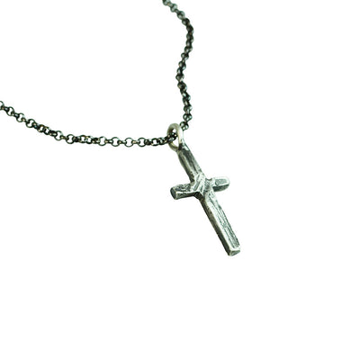 Small Stone Cross Necklace (Close Up)