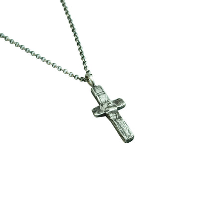 Medium Stone Cross Necklace (Close Up)