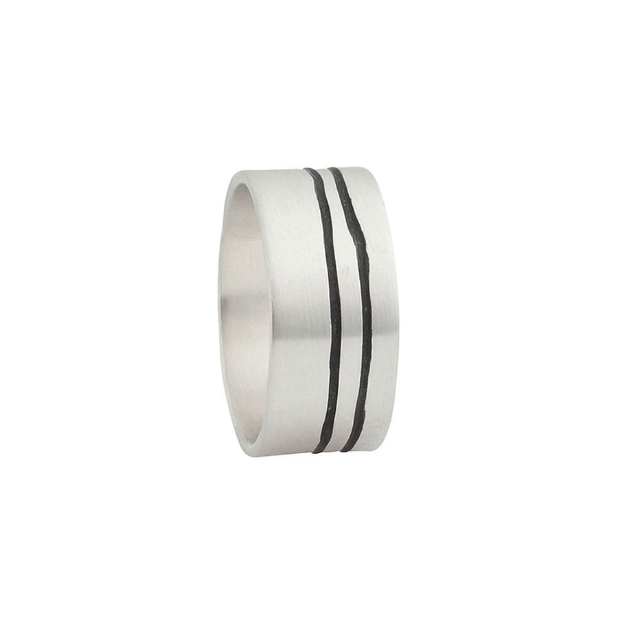 Lineage Men's Double Line Ring