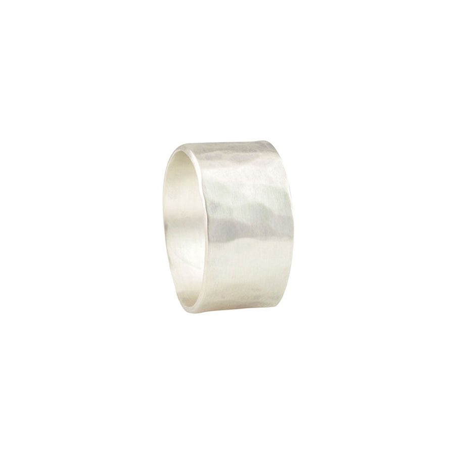 Hammered Wide Band Ring