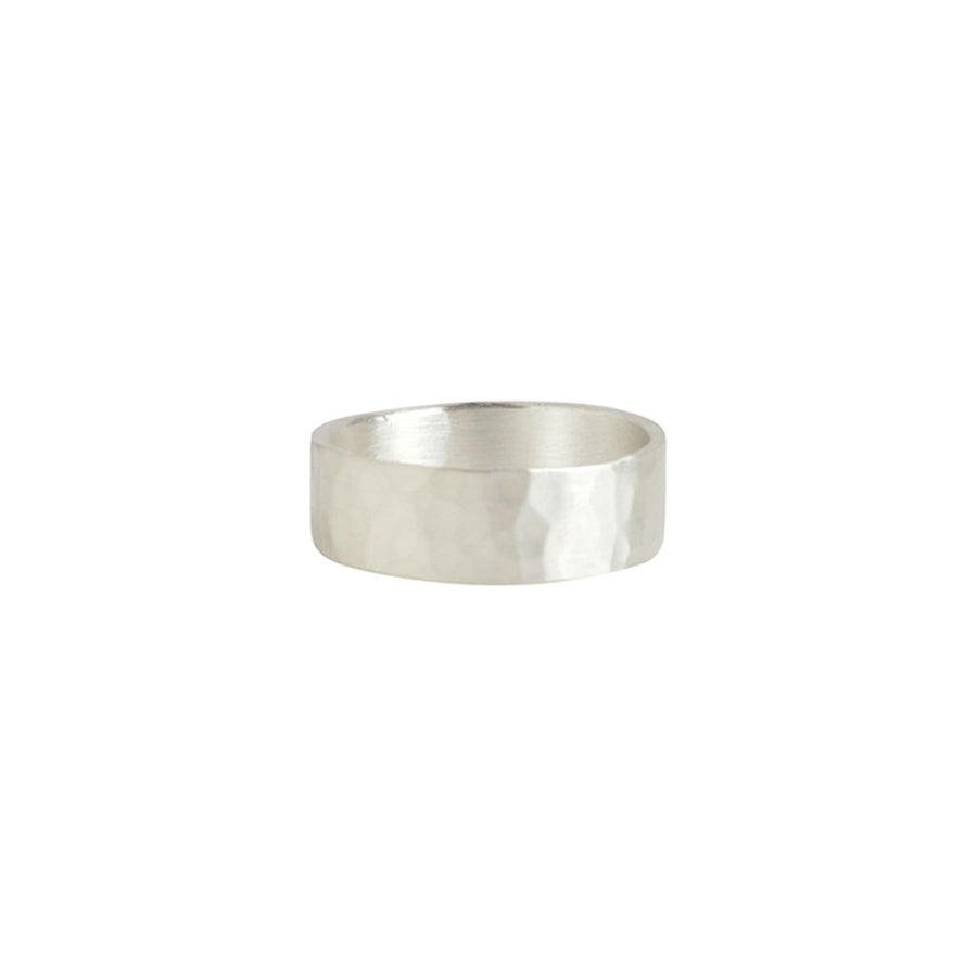 Hammered Medium Band Ring