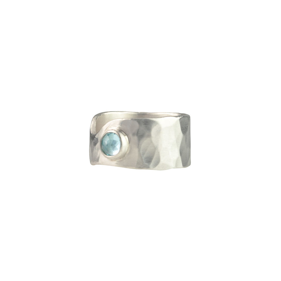Melted Swiss Blue Topaz Ring