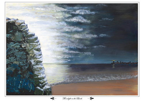 Moonlight on the Beach, fine art print