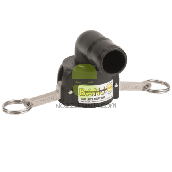 "Banjo 1.5""HOSE BARB TO 2"" MALE CAMLOCK ELBOW"