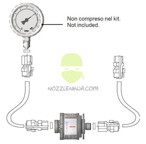 Universal Isolator kit for Pressure gauges
