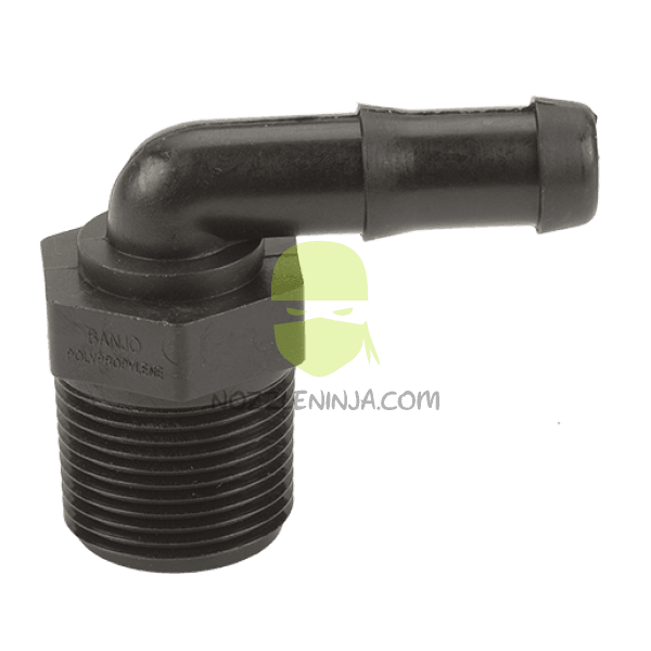 "3/4"" MPTx 1/2"" HB ELBOW POLY"